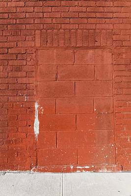 Red Wall With Immured Door Art Print