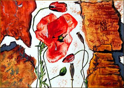 Red Weed Red Poppy Original by Daniel Janda
