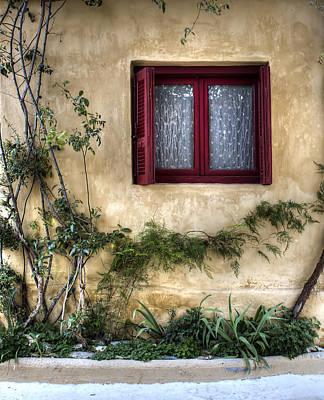 Photograph - Red Window. by Radoslav Nedelchev