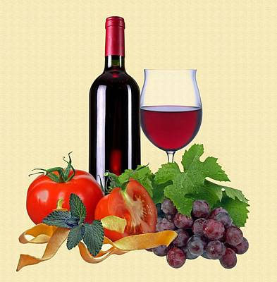 Red Wine Art Print by Manfred Lutzius