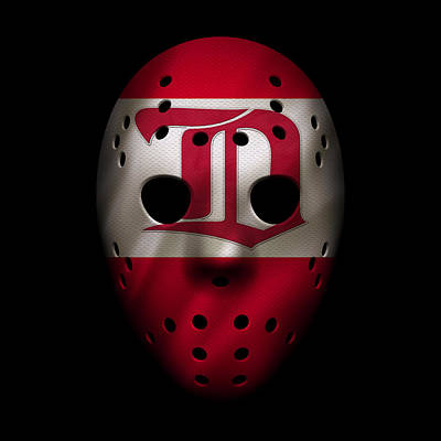 Photograph - Red Wings Jersey Mask by Joe Hamilton