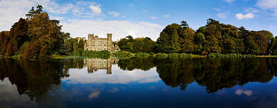 Reflection Of A Castle In Water Art Print