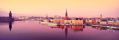 Gamla Stan Photograph - Reflection Of Buildings In A Lake, Lake by Panoramic Images