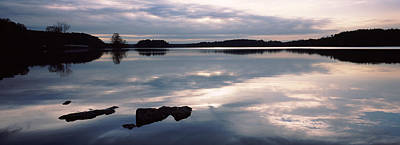 Maryland Photograph - Reflection Of Clouds In A Lake, Loch by Panoramic Images