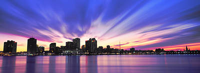 Louisiana Photograph - Reflection Of Skyscrapers On Water by Panoramic Images