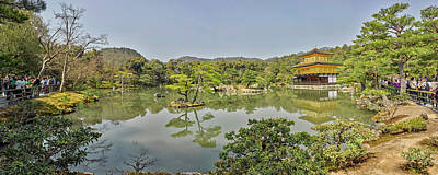 Kinkaku-ji Photograph - Reflection Of Trees On Water by Panoramic Images