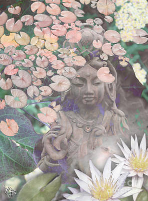 Buddhist Mixed Media - Reflections by Christopher Beikmann