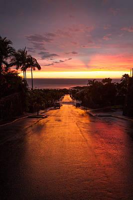 Sunset After Rain Art Print by Denise Bird