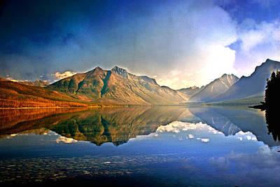 Reflections On Lake Mcdonald Art Print