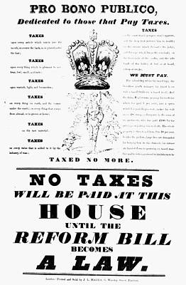 Reform Painting - Reform Bill Poster, 1832 by Granger