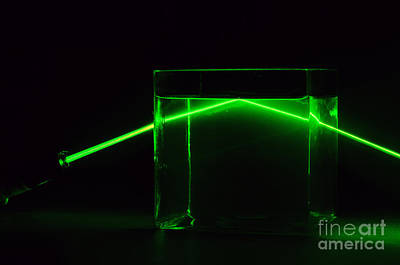 Refraction And Total Internal Reflection Art Print by GIPhotoStock