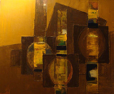 Large Painting - Relativity by Mirek Bialy