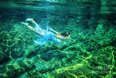Photograph - Relaxation In The Sea by Anna Om