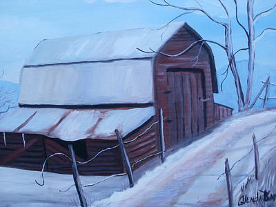Snow Covered Ground Painting - Relic Of The Past by Glenda Barrett
