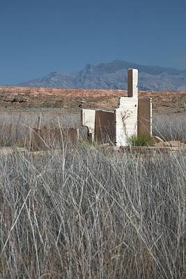 Mead Photograph - Remains Of House Flooded By Hoover Dam by Jim West