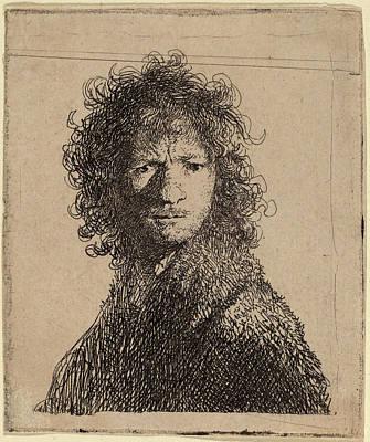 Self-portrait Drawing - Rembrandt Van Rijn Dutch, 1606 - 1669, Self-portrait by Quint Lox
