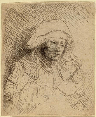 Saskia Drawing - Rembrandt Van Rijn Dutch, 1606 - 1669, Sick Woman by Quint Lox