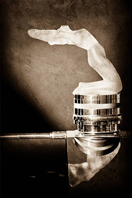 Aero Photograph - Rene Lalique - Chrysis - 1937 Rolls-royce Phantom IIi Aero Coupe Hood Ornament by Jill Reger