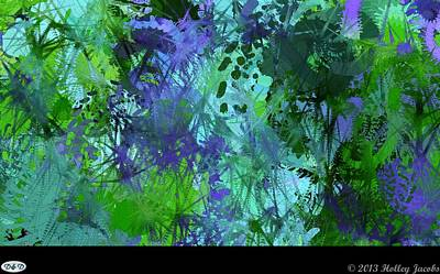 Digital Art - Replay Blue by Holley Jacobs