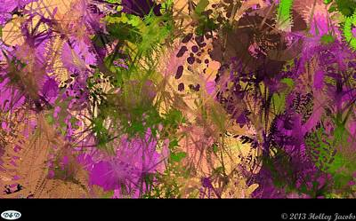 Digital Art - Replay Purple by Holley Jacobs