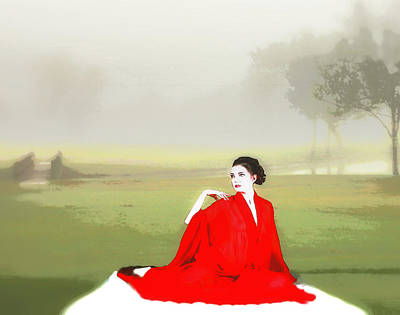 Repose In The Fog Art Print by Richard Hemingway