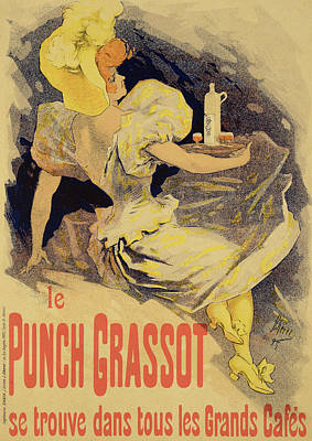 Wine Drawing - Reproduction Of A Poster Advertising by Jules Cheret