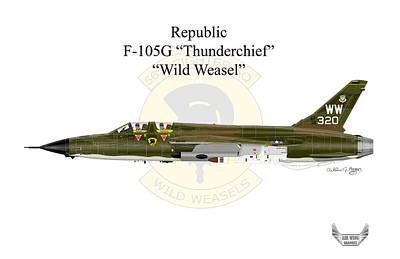 Digital Art - Republic F-105g Thunderchief by Arthur Eggers