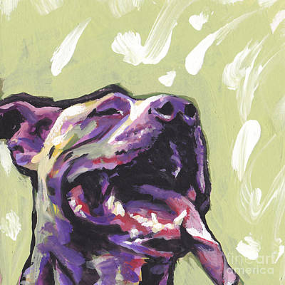Bull Terrier Painting - Rescue Me by Lea S