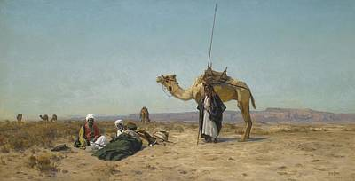 Charity Painting - Rest In The Syrian Desert  by Celestial Images