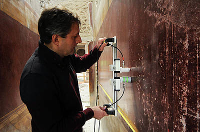 Restoration Of Roman Frescoes Print by Pasquale Sorrentino