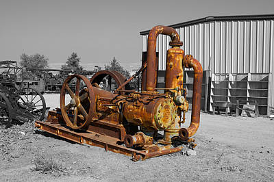 Retired Petroleum Pump Art Print