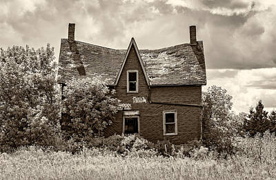 Sepia Vintage Farmhouse Photograph - Retirement Sepia by Steve Harrington