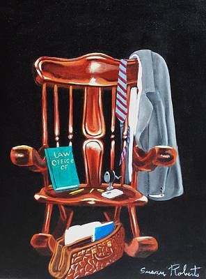 Painting - Retiring Lawyer by Susan Roberts