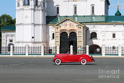 Retro Car Art Print by Evgeny Pisarev