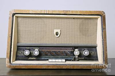 Retro Hi-fi Minerphon Radio Receiver Art Print