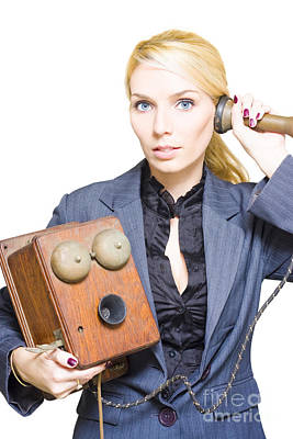 Retro Telephone Operator Art Print by Jorgo Photography - Wall Art Gallery