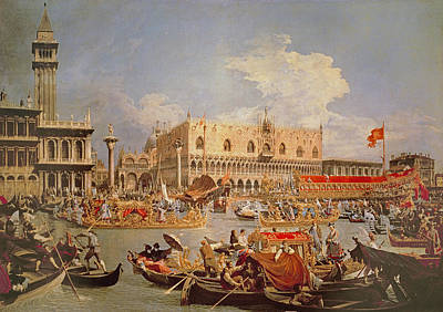 Photograph - Return Of The Bucintoro On Ascension Day by Canaletto