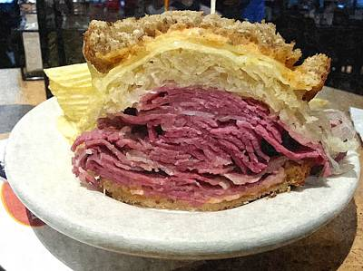 Sandwich Mixed Media - Reuben by Barry Spears
