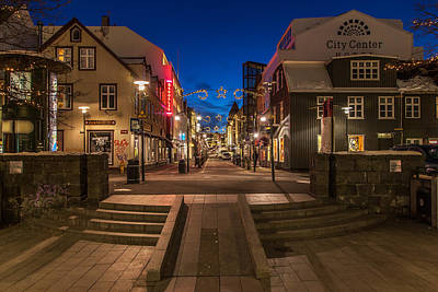 Photograph - Reykjavik At Christmas by John Pike