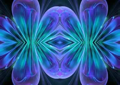 Abstract Digital Art - Rhapsody In Blue by Georgiana Romanovna