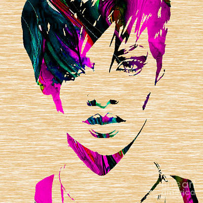 Rihanna Mixed Media - Rhianna Collection by Marvin Blaine