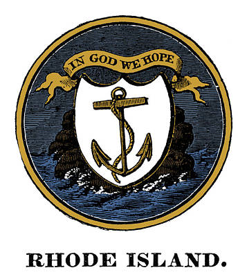 Drawing - Rhode Island State Seal by Granger
