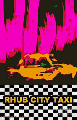 Digital Art - Rhub City Taxi by James Eye