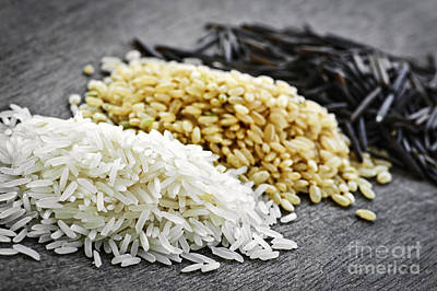 Black Diet Photograph - Rice by Elena Elisseeva