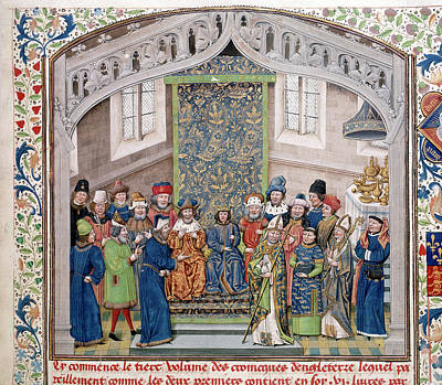 Richard Photograph - Richard II Holding A Court by British Library