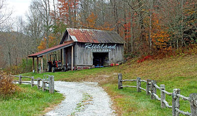 Richland Creek Farm Barn Art Print