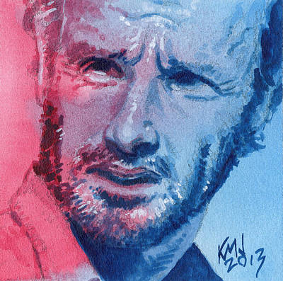 Television Painting - Rick by Ken Meyer jr