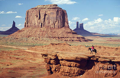 Horse Back Riding Photograph - Rider At Monument Valley by Adam Sylvester