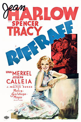 Riffraff, Jean Harlow, Spencer Tracy Art Print by Everett