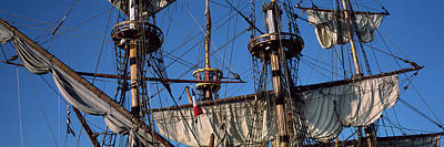 Rigging Of A Tall Ship, Finistere Art Print by Panoramic Images
